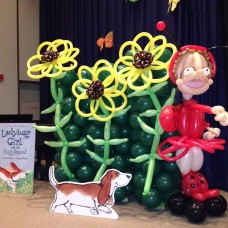 Jumpstart's Read for the Record Event: Ladybug Girl Sculpture